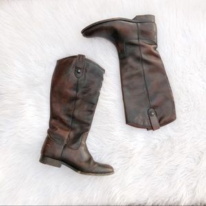 Anthropologie Frye Melissa button boots 8.5 riding